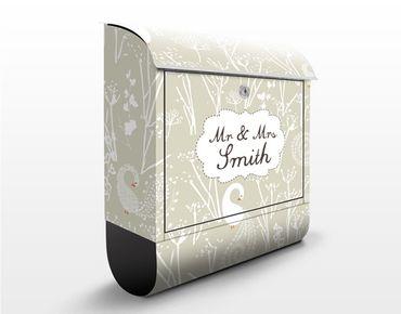 Cassetta postale personalizzata Swan Lake 39x46x13cm