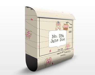 Cassetta postale personalizzata Flight Owl 39x46x13cm