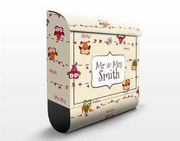 Cassetta postale personalizzata Owl Howl 39x46x13cm