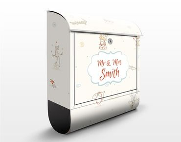 Cassetta postale personalizzata Little Circus 39x46x13cm