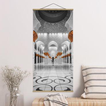 Foto su tessuto da parete con bastone - Nella moschea - Verticale 2:1