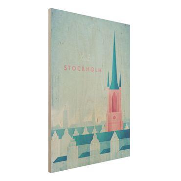 Stampa su legno - Poster Viaggi - Stoccolma - Verticale 4:3