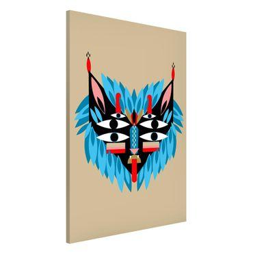 Lavagna magnetica - Collage Mask Ethnic - Lion - Formato verticale 2:3
