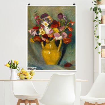 Poster - Otto Modersohn - bouquet colorato - Verticale 4:3