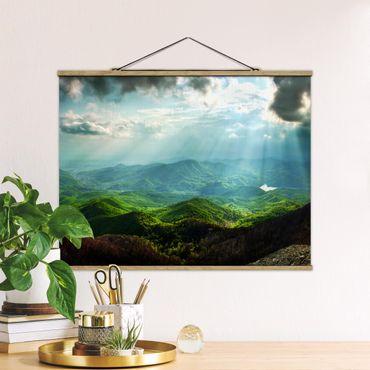 Foto su tessuto da parete con bastone - celeste terra - Orizzontale 3:4