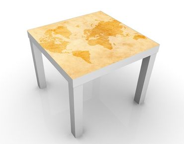 Tavolino design Vintage Worldmap