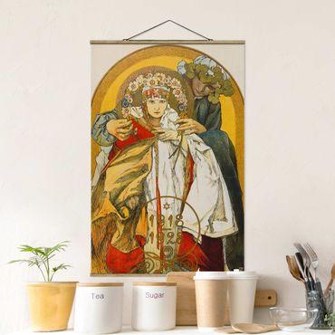 Foto su tessuto da parete con bastone - Alfons Mucha - Poster Repubblica Cecoslovacca - Verticale 3:2