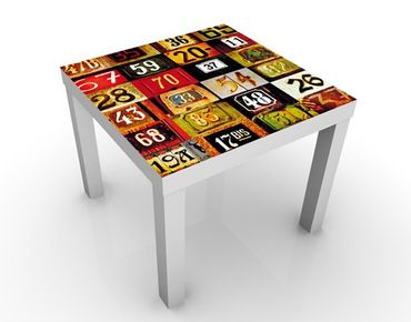 Tavolino design Numbers
