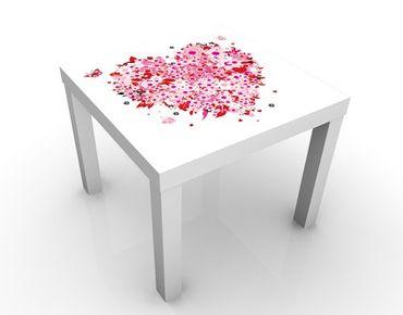 Tavolino design Floral Retro Heart