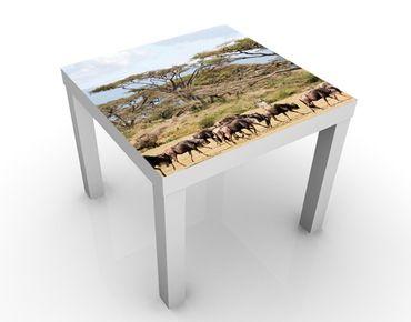 Tavolino design Herd Of Wildebeest In The Savannah