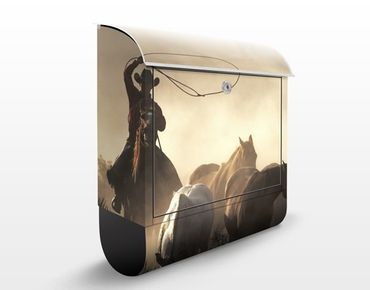 Cassetta postale Cowboys 39x46x13cm