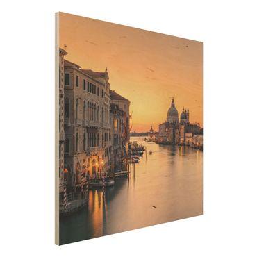 Quadro in legno - d'oro Venezia - Quadrato 1:1