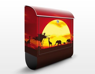 Cassetta postale no.CG80 Sunset Caravan 39x46x13cm