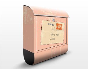 Cassetta postale no.EK430 Personalizzata Via Airmail 39x46x13cm