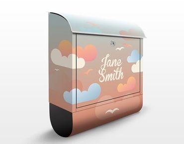 Cassetta postale no.EK435 Personalizzata Clouds Sky 39x46x13cm