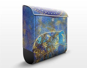 Cassetta postale Elephant In Marrakech 39x46x13cm