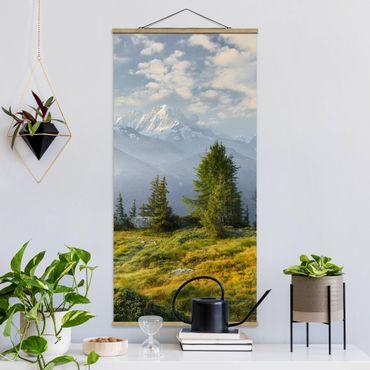 Foto su tessuto da parete con bastone - Emosson Wallis Svizzera - Verticale 2:1