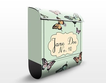 Cassetta postale no.JS176 Personalizzata Butterflies 39x46x13cm