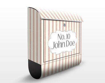 Cassetta postale no.JS177 Personalizzata Stripes 39x46x13cm