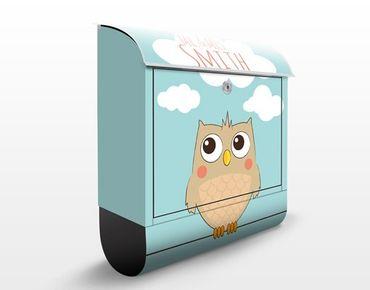 Cassetta postale no.JS178 Personalizzata Hello Owl 39x46x13cm