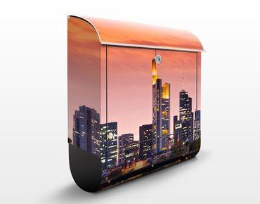 Cassetta postale Frankfurt Skyline 39x46x13cm