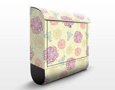Cassetta postale Ornamental Blossoms I 39x46x13cm