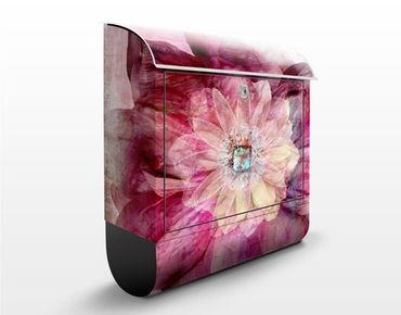 Cassetta postale Grunge Flower 39x46x13cm