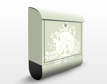 Cassetta postale no.JS309 Personalizzata Floral Label 39x46x13cm