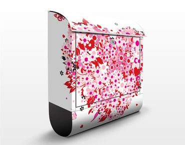 Cassetta postale Floral Retro Heart 39x46x13cm