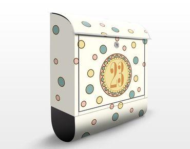 Cassetta postale no.JS310 Personalizzata Hippie-Girl 39x46x13cm