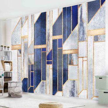 Tende scorrevoli set - Elisabeth Fredriksson - Forme geometriche con oro - 6 Pannelli