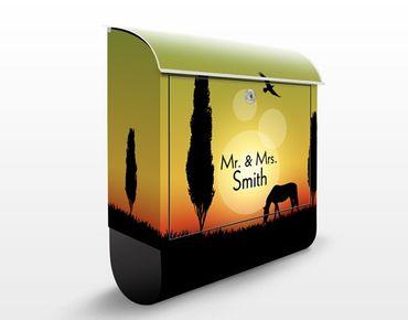 Cassetta postale no.JS313 Personalizzata Twilight in Tuscany 39x46x13cm