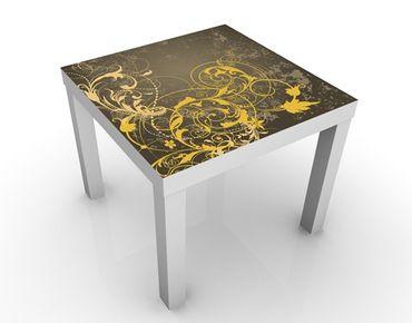 Tavolino design Curlicues In Gold