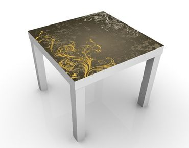 Tavolino design Curlicues In Gold And Silver
