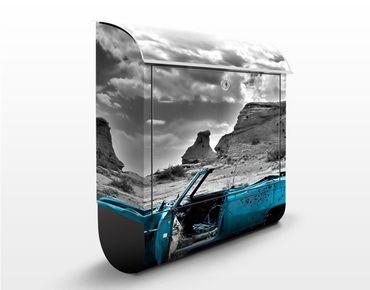 Cassetta postale Turqouise Cadillac 39x46x13cm