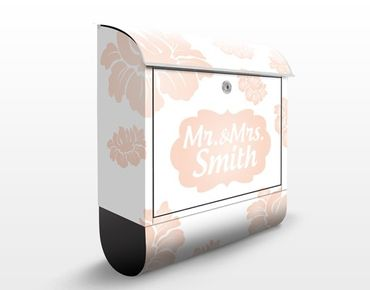 Cassetta postale no.JS318 Personalizzata Pink Blossoms 39x46x13cm