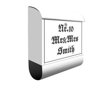 Cassetta postale no.EK424 Personalizzata Gothic Writing 39x46x13cm