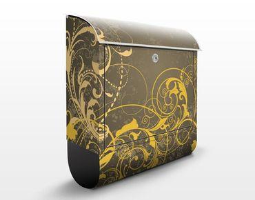 Cassetta postale Curlicues In Gold 39x46x13cm