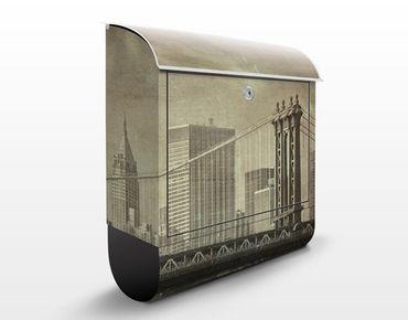 Cassetta postale Vintage New York 39x46x13cm