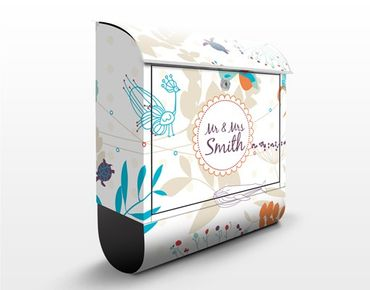 Cassetta postale personalizzata Coastal Life 39x46x13cm
