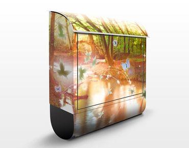 Cassetta postale no.CG86 Butterfly Wood 39x46x13cm