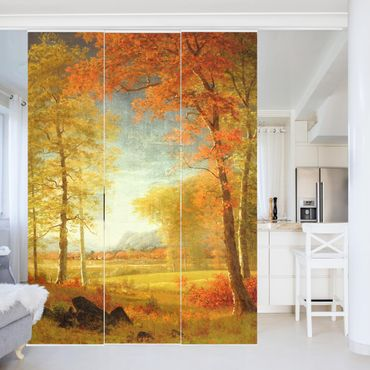 Tende scorrevoli set - Albert Bierstadt - Autunno in Oneida County, New York - 3 Pannelli