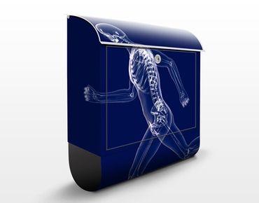 Cassetta postale Glassy Human in Blue 39x46x13cm