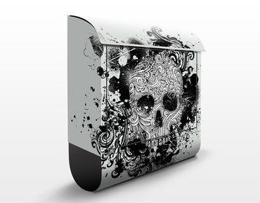 Cassetta postale Skull 39x46x13cm
