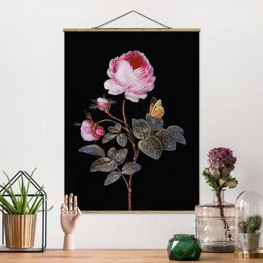 Foto su tessuto da parete con bastone - Barbara Regina Dietzsch - The Hundred-Rose - Verticale 4:3