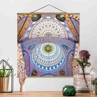 Foto su tessuto da parete con bastone - Moschea Blu di Istanbul - Quadrato 1:1