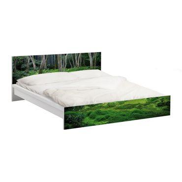 Carta adesiva per mobili IKEA - Malm Letto basso 160x200cm Japanese Forest