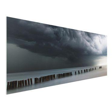 Quadro in forex - Nubi di tempesta sul Mar Baltico - Panoramico