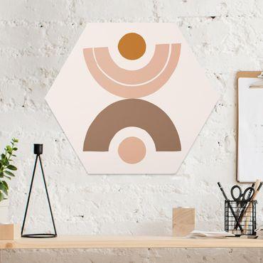 Esagono in forex - Line Art astratta pastello Forme