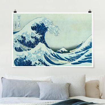 Poster - Katsushika Hokusai - La grande onda a Kanagawa - Orizzontale 2:3